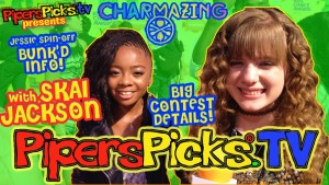 CONTEST! SKAI JACKSON or PIPER CURDA at YOUR HOUSE for a CHARMAZING PIZZA PARTY   BUNK'D INTERVIEW!