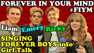 FOREVER IN YOUR MIND Forever Boys Disney Show Info, Singing, PLUS #FIYM Picks a Girl for Ricky!