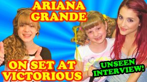 ARIANA GRANDE Unseen 2010 Victorious Exclusive Interview On Set at Nick on Sunset!