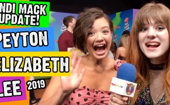 Piper Reese interviewing Peyton Elizabeth Lee at the 2019 Kids Choice Awards
