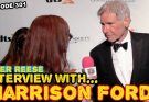 Piper Reese interviewing Harrison Ford